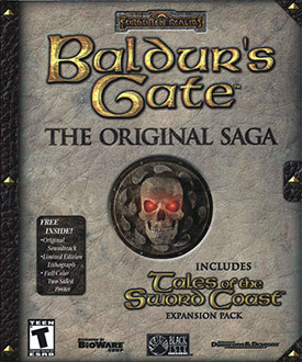 Portada de la descarga de Baldur's Gate: The Original Saga (GOG)
