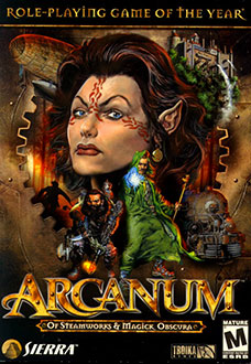Portada de la descarga de Arcanum: Of Steamworks and Magick Obscura (GOG)