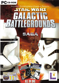 Portada de la descarga de Star Wars: Galactic Battlegrounds Saga (GOG)